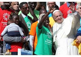 pOPE WITH mIGRANTS